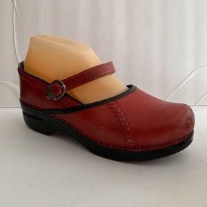 Dansko Shoes - Dansko Red Leather Mary Janes